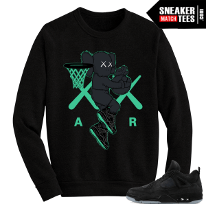 Kaws Jordan 4 Black Crewneck Sweater Air Kaws