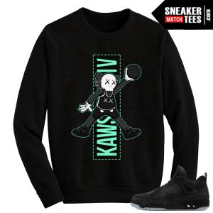 Kaws Jordan 4 Black Crewneck Sweater Jumpman Kaws