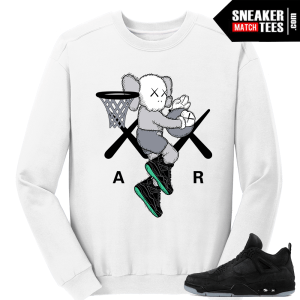 Kaws Jordan 4 Black Crewneck Sweater White Air Kaws