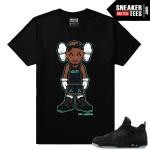 Kaws Jordan 4 Black Sneaker Tees 2Pac Kaws