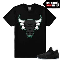 Kaws Jordan 4 Black Sneaker tees Kaws Bull