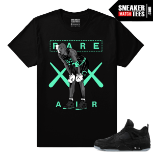 Kaws Jordan 4 black Sneaker tees MJ Kaws
