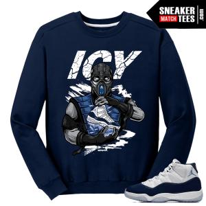 Midnight Navy 11 Crewneck Sweater Subzero Icy Sole