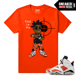 Gatorade 6s Sneaker tees Orange Kodak Black C'est La Vie