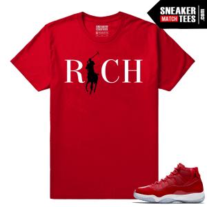 Jordan 11 Win Like 96 Sneaker tees Red Country Club Rich