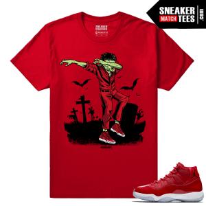 Jordan 11 Win Like 96 T shirt Red Dabin MJ Thrilla