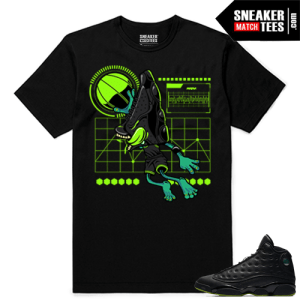 Altitude 13 Sneaker tees Black Sneakerhead Air 13s