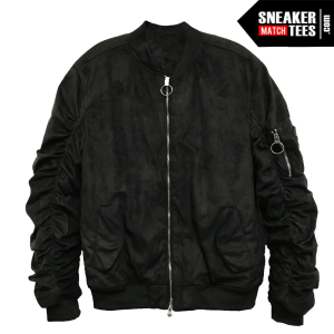 Bomber Jacket Black Suede