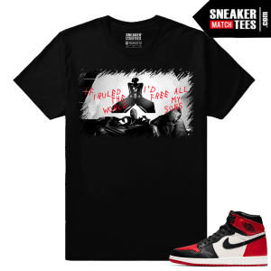 Jordan 1 Bred Toe Sneaker tees Black Free All my Sons