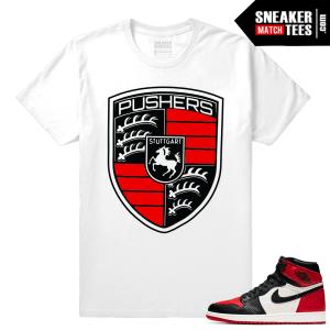 Jordan 1 Bred Toe Sneaker tees Pushers