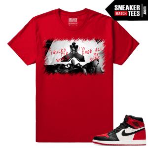 Jordan 1 Bred Toe Sneaker tees Red Free All my Sons