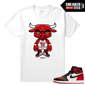 Jordan 1 Bred Toe Sneaker tees White Bred Toe Bull