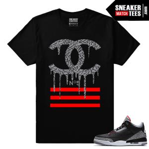Jordan 3 Black Cement Sneaker tees Designer Drip