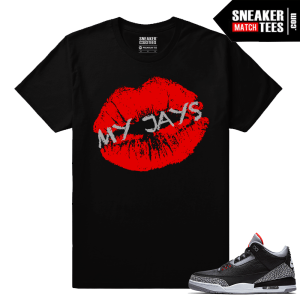 Jordan 3 Black Cement Sneaker tees Kiss My Jays
