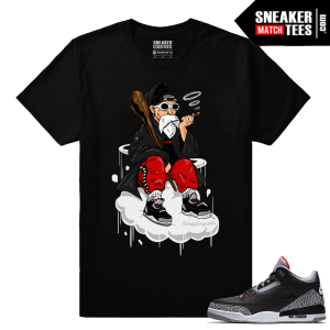 Jordan 3 Black Cement Sneaker tees Live Fresh Master Roshi
