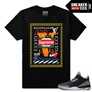 Jordan 3 Black Cement Sneaker tees Mad Hype