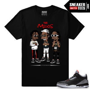 Jordan 3 Black Cement Sneaker tees The Migos