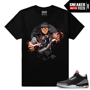 Jordan 3 Black Cement Sneaker tees Tinker x Raiden