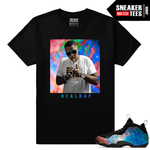Big Bang Foamposites Sneaker Match Tees Black Nas Real Rap