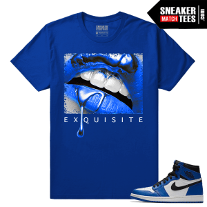 Jordan 1 Game Royal Sneaker Match Tees Royal Exquisite Lips