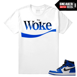 Jordan 1 Game Royal Sneaker Match Tees Stay Woke