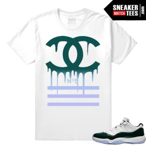 20cfab47b6676f Jordan 11 Low Emerald Sneaker Match Tees Designer Drip