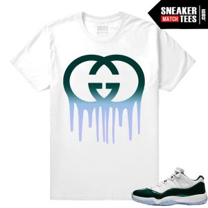 Jordan 11 Low Emerald Sneaker Match Tees Gucci Drip