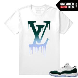 Jordan 11 Low Emerald Sneaker Match Tees LV Drip