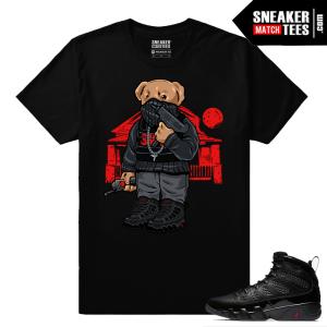Jordan 9 Bred Sneaker Match Tees Polo Bear Trap