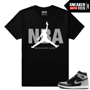 Jordan Matching tees Shadow 1s