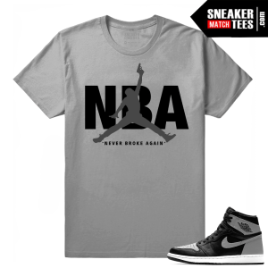 Air Jordan shadow 1s matching tee