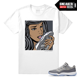 Cool Grey shirt matching Jordan Retro 11