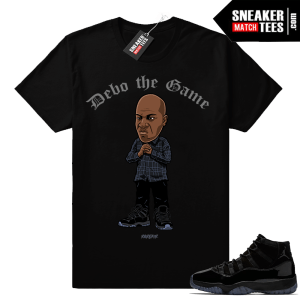 Debo the Game t shirt match Jordan 11 Cap and Gown