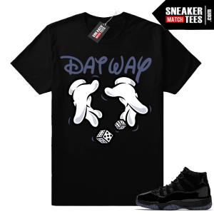 Jordan 11 Cap and Gown Sneaker tee shirt