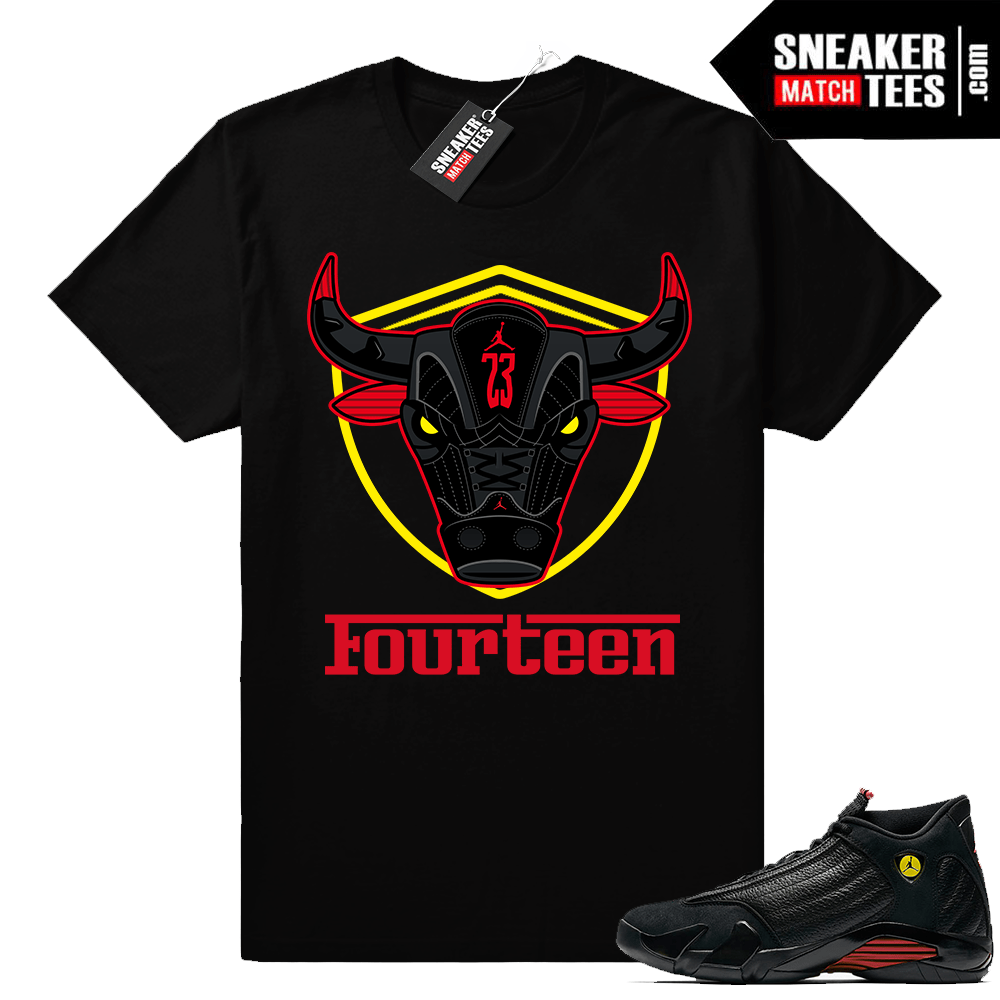 Jordan 14 shirt matching Last Shot 14 retro