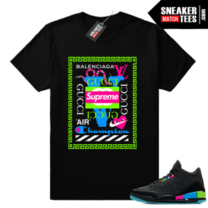 Air Jordan 3 Quai 54 matching luxury brands shirt