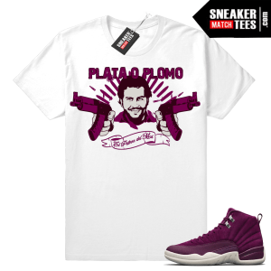 Pablo Escobar Plata O Plomo Bordeaux 12s t shirt