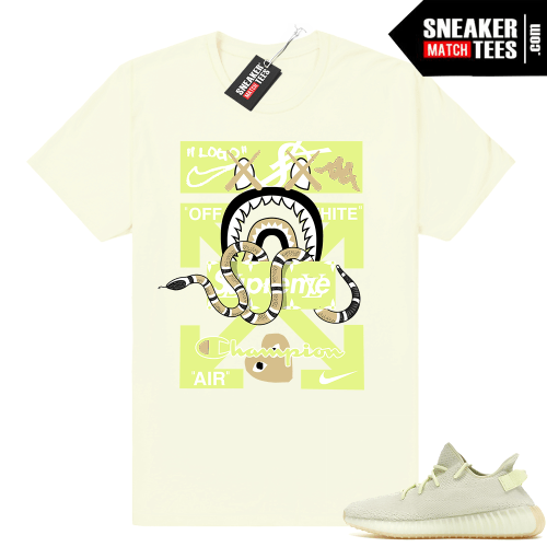 Yeezy Boost 350 Butter shirts