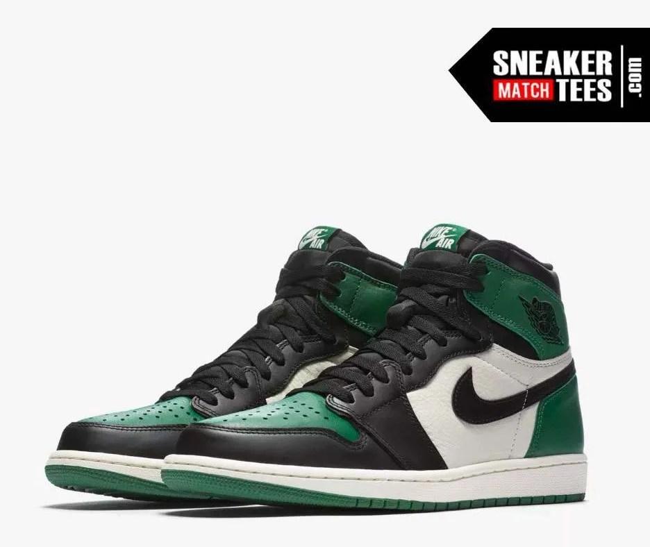 Jordan 1 Pine Green Shirts match sneakers (1)