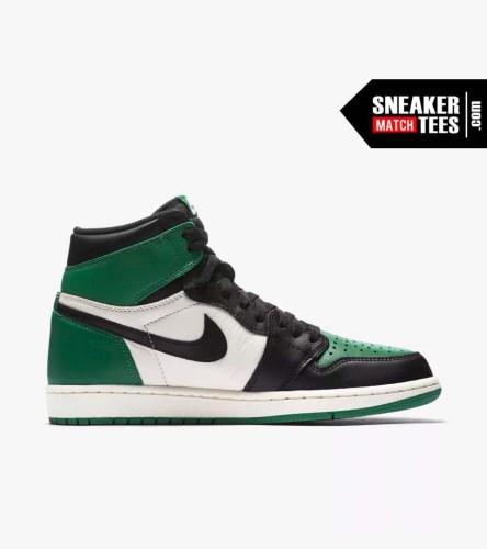 Jordan 1 Pine Green Shirts match sneakers (3)
