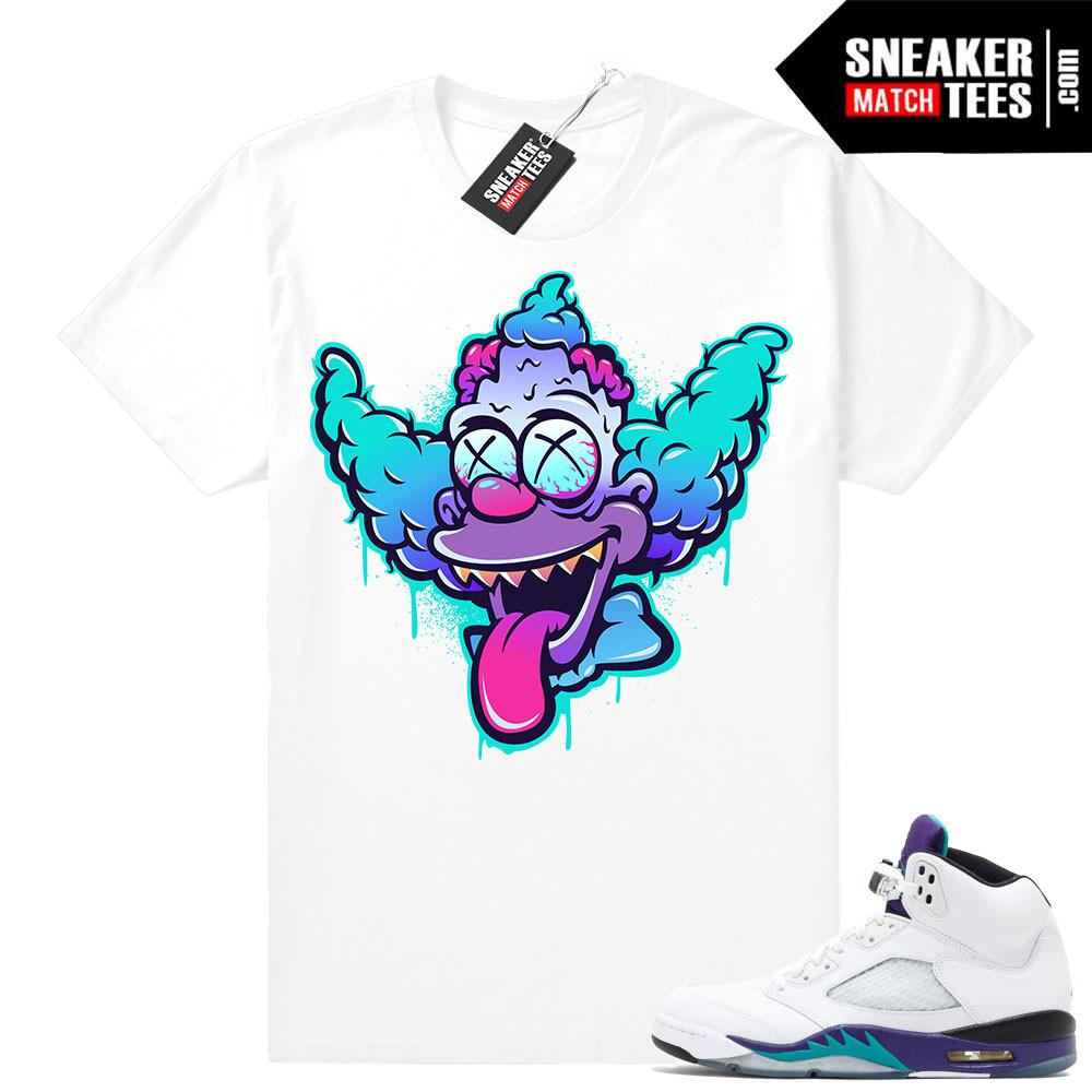 Jordan Retro 5 Grape Matching Sneaker Tees Shirts Sneaker Match Tees d13c3f09b