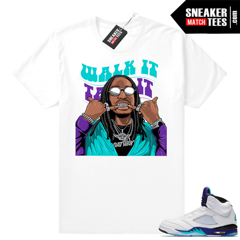 Jordan shirt Grape 5s match