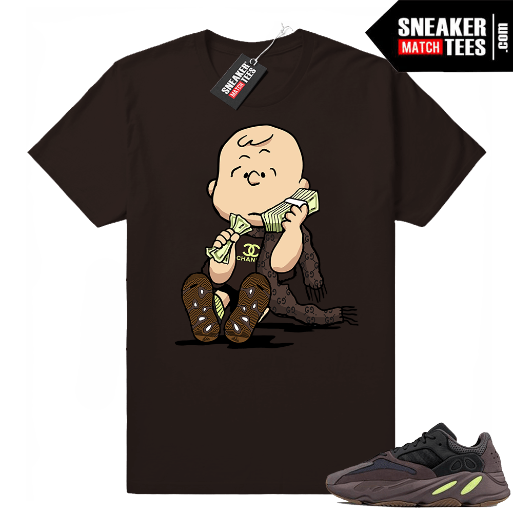 Charlie Brown Yeezy Mauve 700 t-shirt