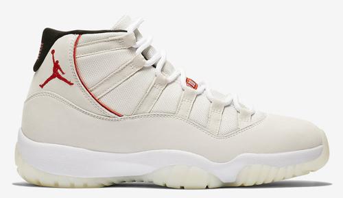 Jordan release dates Jordan 11 Platinum Tint