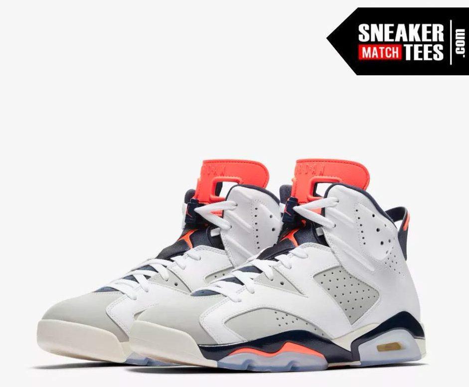 Shop Jordan Retro 6 Tinker shirts match sneakers (1)
