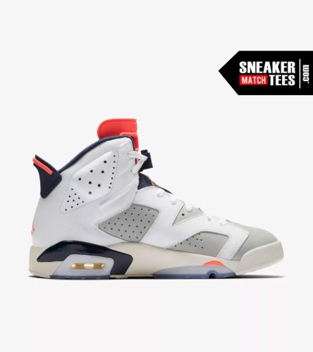 Shop Jordan Retro 6 Tinker shirts match sneakers (4)