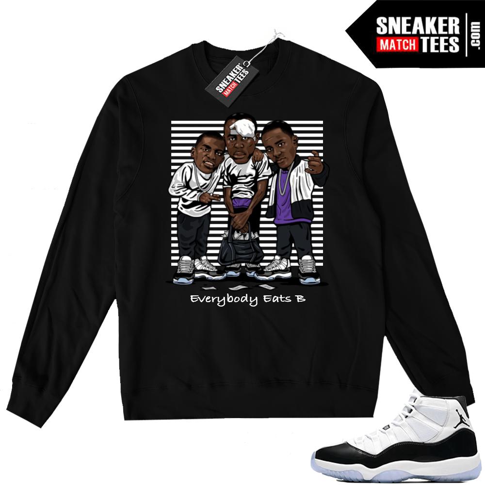 Air Jordan 11 Concord Black Sweater Jordan Sneaker Clothing
