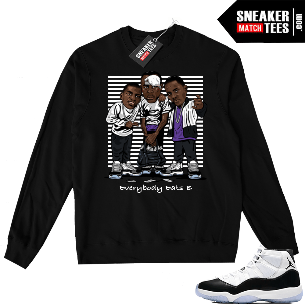 Air Jordan 11 Concord Black Sweater