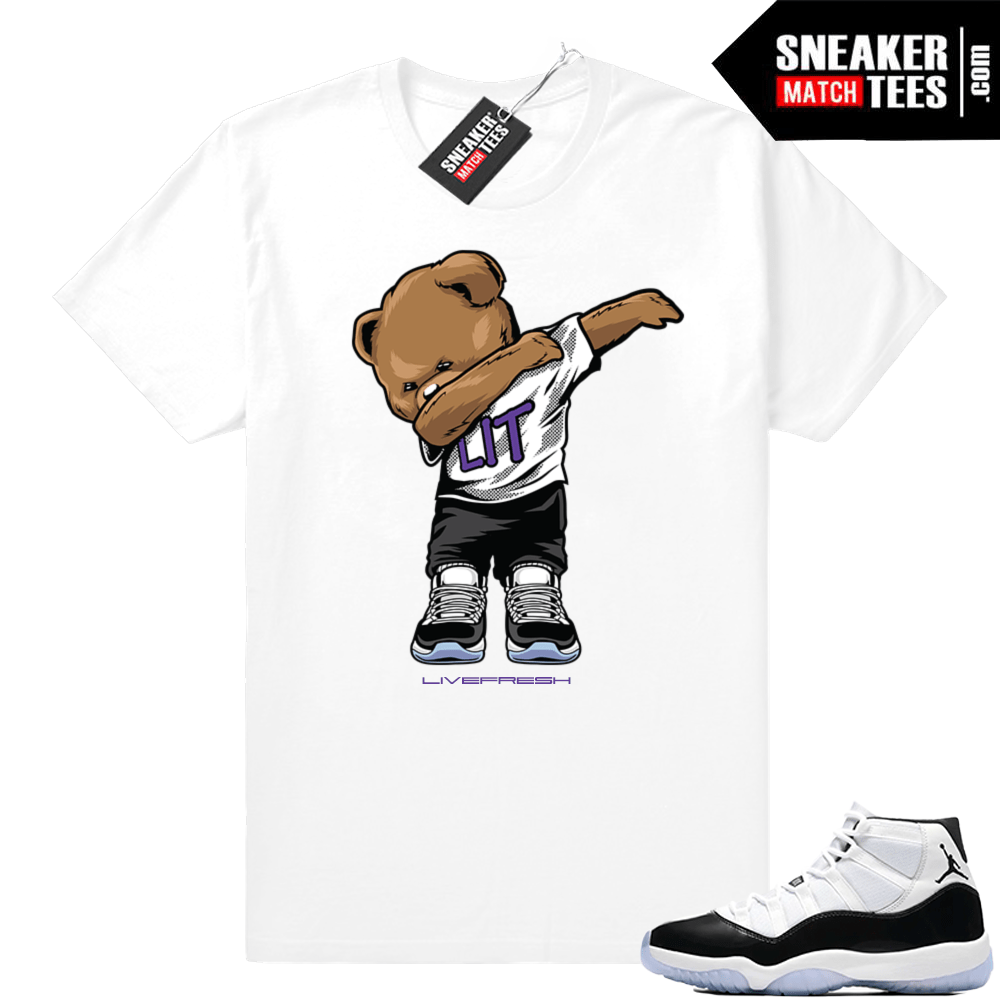 Air Jordan retro 11 shirt concord white