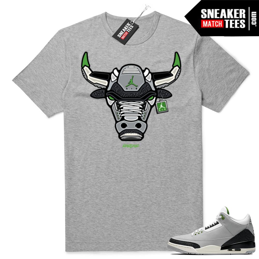 Jordan 3 Chlorophyll Rare Air Sneaker tees